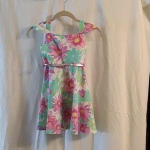 KIDS SPRING BELTED DRESS